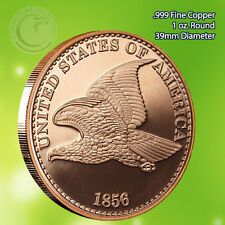 """1856 Flying Eagle"" Copper Round 1 oz .999 Copper Round Beautiful Design"