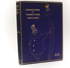 Max Beerbohm 'Caricatures Twenty-Five Gentleman' Leonard Smithers London 1896