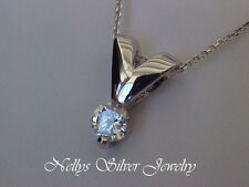 zircon look like withe gold silver 925 pendent elegant ,with cubic