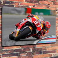 Marc Marquez MotoGP Motorbike Printed Canvas Picture Multiple Sizes 30mm.Deep.