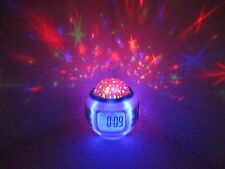 Music Starry Star Sky LED Projection Digital Alarm Clock Therm. Sound Therapy