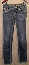 Women's Buckle Rock Revival Debbie Straight Leg Denim Jeans Size 27x32 Cute!