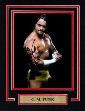 WWE UFC CM PUNK 11X14 Matted Namplate PHOTO AUTOGRAPH