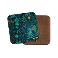 Pretty Woodland Coaster - Fern Leaves Plants Nature Wildlife Forrest Gift #15541