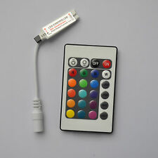 mini 24Key IR Remote Controller Wireless DC12V For 3528 5050 LED RGB Light Strip