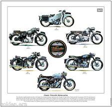 Classic velocette motos-FINE ART PRINT-le Viper Venom Thruxton mac MSS