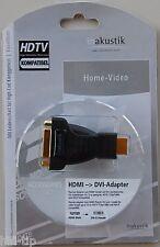inakustik Exzellenz HDMI DVI Adapter DVI (w) HDMI (m)  vergoldet / 0083241