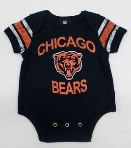 NFL Chicago Bears Infant Navy Distressed Screen Print Bodysuit 24 Month