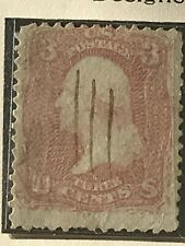 US Stamp #65 Rare Stamp 1861 Rose Extremely Fine 3c Gem Nice Cancel Collection