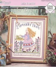 Lavender Blue Garden Girl New Cross Stitch Pattern Leaflet 30 Days to Shop & Pay