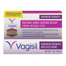 New Vagisil Anti-Itch Vaginal Creme Maximum Strength 1 OZ.