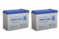 Power-Sonic 2 Pack - 12V 10.5AH SLA Battery for Neuton CE6 Cordless Electric Mow