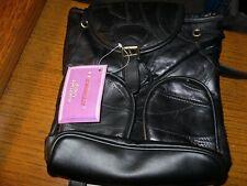 ~Embassy Black Lambskin Leather Patchwork Backpack Purse/Handbag - New!~