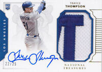 2016 National Treasures Trayce Thompson /25 Auto Patch Rookie LA Dodgers