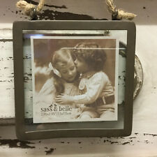 Sass & Belle Industrial Finish Square Small Hanging Photo Frame Portrait Picture