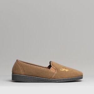 Mirak STAG Mens House Indoor Outdoor Warm Comfortable Slip On Slippers Tan