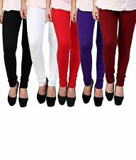 Leggings Women's Cotton Leggings (Pack Of 5, Multicolor, Free Size)