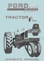 Ford 6000 60104 60105 60106 Tractor Operators Manual