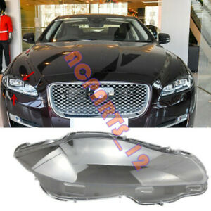 Right Side Transparent Headlight Cover + Glue Replace For Jaguar XJ 2010-2019