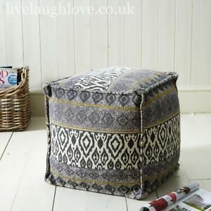 40cm x 40cm Cube Shaped Fabric Foot Cushion - Grey