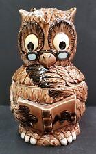 Vintage Porcelain Owl Cookie Jar, Made In Japan