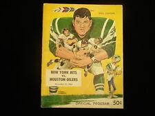 November 21, 1965 Houston Oilers @ New York Jets NFL Program