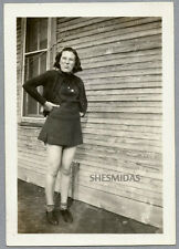 #334 Bronx Cheer! Teen Girl Gives the Camera the Raspberry, Vintage 1938 Photo