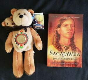 Limited Treasures Sacajawea & Pomp Coin Bear, 2002 + Paperback Book, 2008