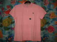 NWT Mens L.L. Bean Pink Premium Double L® Polo Banded Boot Logo Shirt Small