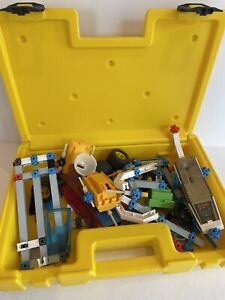 Vintage Fisher Price Construx Lot & Case 1983 Space Action Building Parts