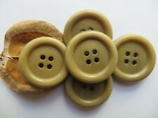 1940s Vintage Med Lt Khaki Olive Green Corozo Coat Jacket Dress Buttons-29mm