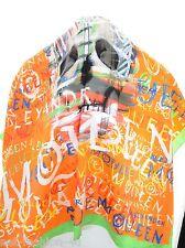 ALEXANDER McQUEEN CALAVERA GRAFFITI Seda Bufanda colores audaces BNWT