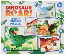Dinosaur Roar! 4 in 1 Puzzles Paul Lamond