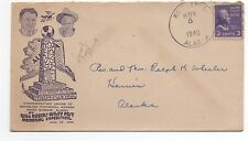 1940 US Cover from Kotzebue Alaska commemorating Will Rogers Monument