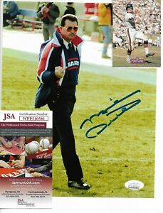 Autographed Chicago Bears Iron Mike Ditka Signed 8x10 Action Photo & Card JSACOA