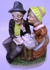 Homco Grandma Figurine - Grandpa & Grandma Tea Party
