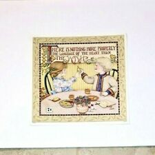 """Mary Engelbreit Poster Language of the Heart Than the Wish 12""""x12"""" Thanksgiving"""