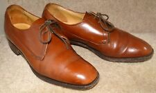 Men's Loake Plain Polished Leather Lace Shoes Size 5 1/2 EE Penrith Derbys