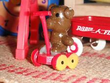 Vintage Teddy Bear Wagon Play Baby Toy fits Fisher Price Loving Family Dollhouse