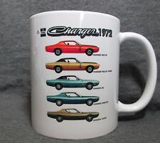 1972 Dodge Charger Line Coffee Cup, Mug - New - Classic 70's Mopar - Sharp!