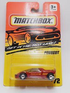 Matchbox Peugeot Quasar 1995 Superfast MB72 Plum USA