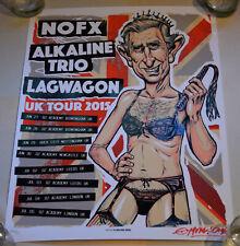 Nofx * Munk One * 2015 Uk Tour * Artists Edition * Signed Ap 41/50 * Lagwagon