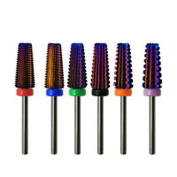 5 In 1 Tapered Carbide Nail Drill Bit Milling Cutter Manicure Remove Gel Acrylic