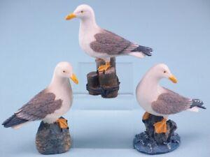 Nautical Seaside Theme Seagull Ornament 8cm 3 Choices Beach Cornwall