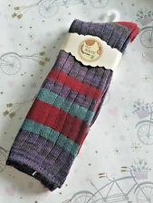 GIRLS WOMENS Winter Cotton Blend Boot Socks Knit Weave Long Warm Thick 1 PAIR B5
