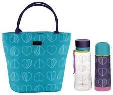 Beau & Elliot Confetti Outline Teal Lunch Tote, Hydration Bottle & Vacuum Flask