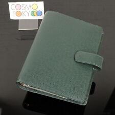 MPRS Auth Louis Vuitton Green Taiga Agenda MM Day Planner Cover GOOD #8F020