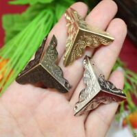 12pcs Antique Iron Corner Protector Guard for Jewelry Wine Gift Box Wooden Case