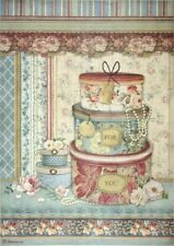 Stamperia  Rice Paper A4 Hatboxes Grand Hotel