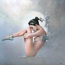 Karol Bak: Disappointment Fertig-Bild 70x70 Wandbild Mädchen Akt